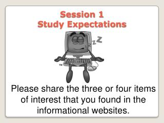 Session 1  Study Expectations