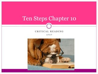 Ten Steps Chapter 10