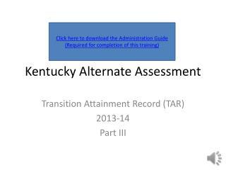 Kentucky Alternate Assessment