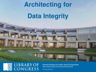 Architecting for Data Integrity