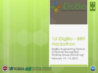 1st iDigBio – BRIT Hackathon