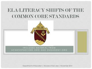 ELA/ LIteracy  Shifts of the Common Core Standards
