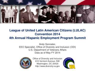 Andy Gonzalez, EEO Specialist, Office of Diversity and Inclusion (ODI)