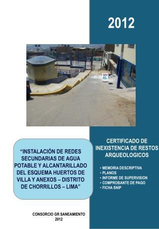 CERTIFICADO DE INEXISTENCIA DE RESTOS ARQUEOLOGICOS