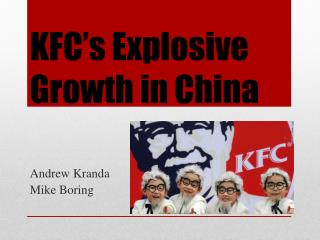 KFC's Explosive Growth in China