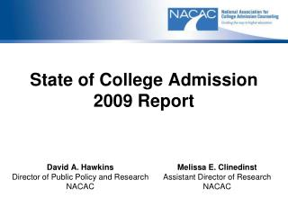 State of College Admission 2009 Report