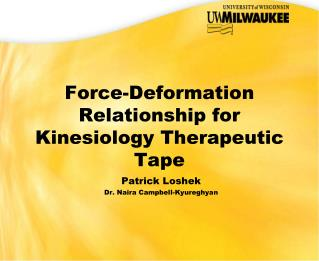 Force-Deformation Relationship for Kinesiology Therapeutic Tape
