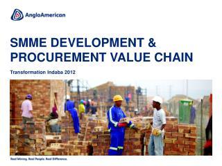SMME development & procurement value chain