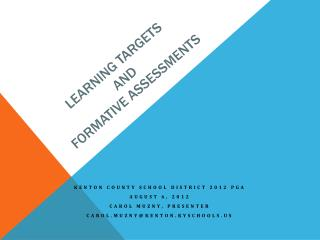 Learning Targets and Formative Assessments