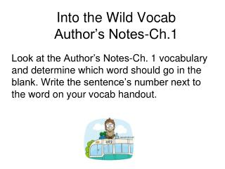 Into the Wild Vocab  Author's Notes-Ch.1