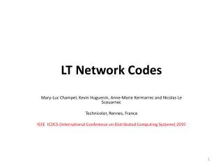 LT Network Codes