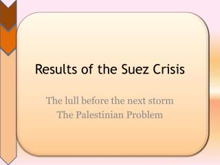 Results of the Suez Crisis