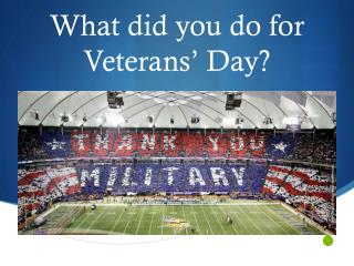 What did you do for Veterans' Day?