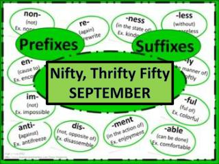Nifty, Thrifty Fifty SEPTEMBER