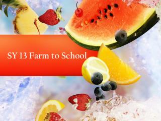 SY 13 Farm to School