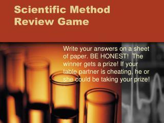 Scientific Method Review Game