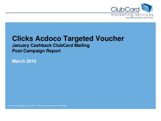 Clicks  Acdoco  Targeted Voucher January Cashback ClubCard Mailing Post-Campaign Report