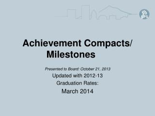 Achievement Compacts/ Milestones