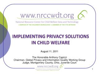 IMPLEMENTING PRIVACY SOLUTIONS IN CHILD WELFARE