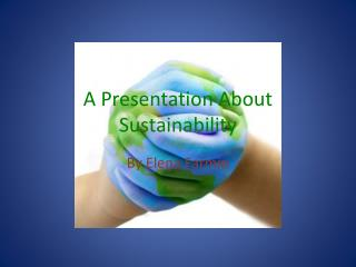 A Presentation About Sustainability