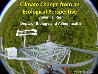 Climate Change from an Ecological Perspective