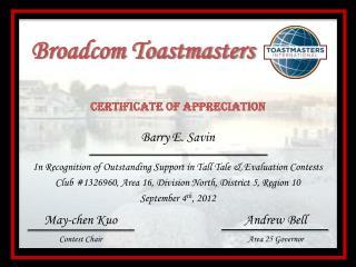 Broadcom Toastmasters