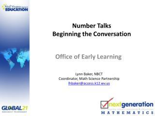 Number Talks Beginning the Conversation