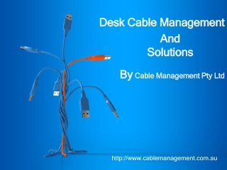 Desk Cable Management - To organize messy cables, reduce tri