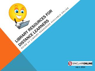 Library Resources for Distance Learners