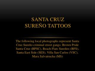 Santa Cruz  Sure�o  TATTOOS