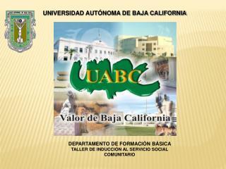 DEPARTAMENTO DE FORMACIÓN BÁSICA  TALLER DE INDUCCIÓN AL SERVICIO SOCIAL COMUNITARIO