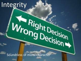I ntegrity