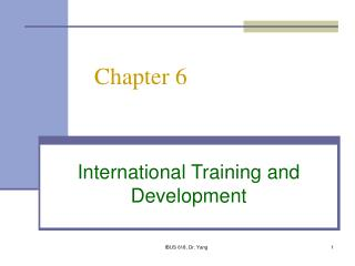 International Training and Development