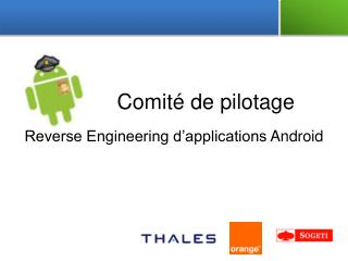 Reverse Engineering d'applications  Android
