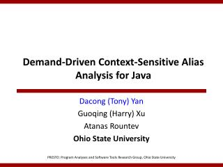Demand-Driven Context-Sensitive Alias Analysis for Java