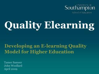 Quality Elearning