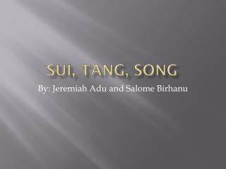 Sui, Tang, Song