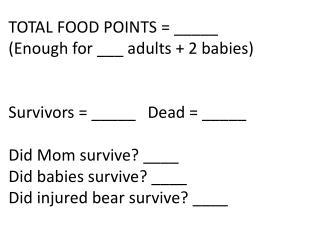 bears tally