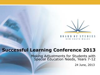 Successful Learning Conference 2013