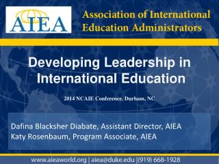Developing Leadership  in International Education