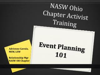 NASW Ohio Chapter Activist Training Event Planning 101 5