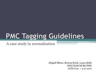 PMC Tagging Guidelines