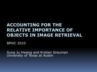 Accounting for the  relative importance of objects in image retrieval