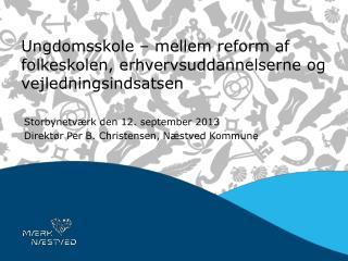 Ungdomsskole � mellem reform af folkeskolen, erhvervsuddannelserne og vejledningsindsatsen
