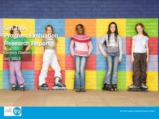 Girl Talk  Program Evaluation  Research Report