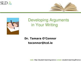 Developing Arguments  in Your Writing