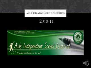 Azle  ISD Advanced Academics