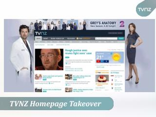 TVNZ Homepage Takeover