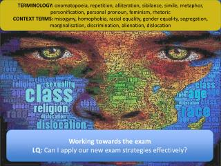 Working towards the exam LQ:  Can I apply our new exam strategies effectively?