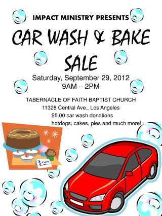 CAR  WASH & BAKE SALE